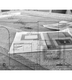 Realizzazione cornice in pietra 4 lati in un pezzo unico