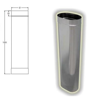 tubo ovale cm 100