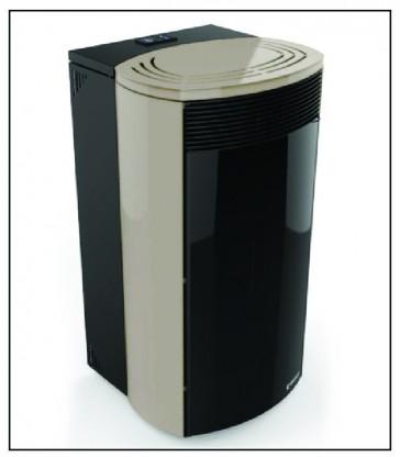 FLUENT, termostufa a Pellet di UNGARO, col Sabbia, 6-24 Kw